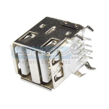 کانکتور USB مادگی تیپ A دوبل روبردی